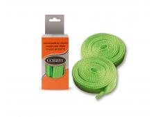 Шнурки 120см. Плоск. (зеленые)