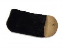 Салфетка-варежка Saphir MEDAILLE, шерстяная, черная